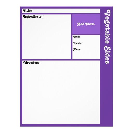 Page de recette (violette foncée) prospectus personnalisés