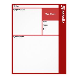 Pages de recette (rouge foncé) prospectus 21,6 cm x 24,94 cm