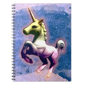 Pages du carnet 80 de photo de licorne (bleu