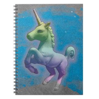 Pages du carnet 80 de photo de licorne (nébuleuse