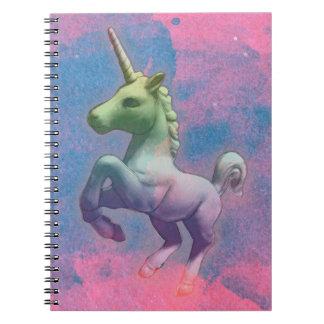 Pages du carnet 80 de photo de licorne (rose de