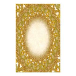 Pages rayées de papeterie de la dentelle p2 d'or