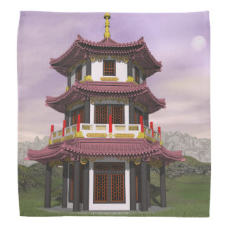 Pagoda en nature - 3D rendent Bandana