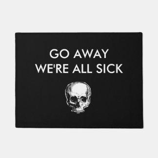 Paillasson Allons loin nous sommes tous natte malade