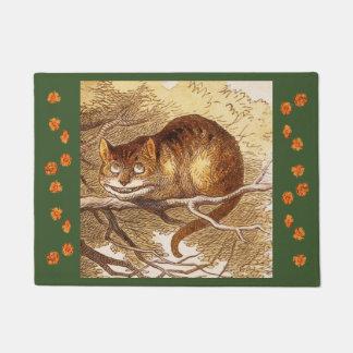 Paillasson Art vintage d'arbre de chat de Tenniel Cheshire