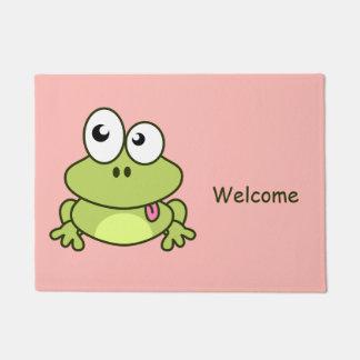 Paillasson Bande dessinée mignonne drôle de grenouille