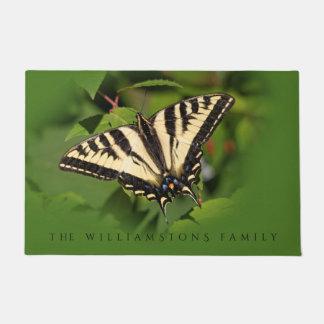 Paillasson Beau papillon occidental de machaon de tigre