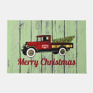 Paillasson Camion vintage votre ferme d'arbre de Noël