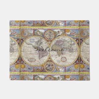 Paillasson Carte de cru de voyageur du monde