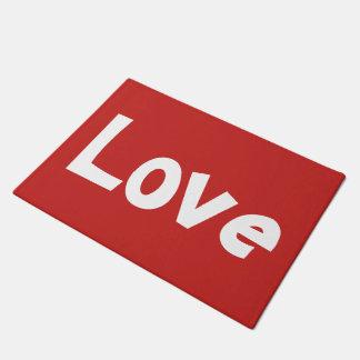 Paillasson Copie rouge et blanche mignonne de mot d'amour
