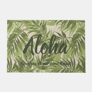 Paillasson Cru tropical hawaïen de paumes d'arec