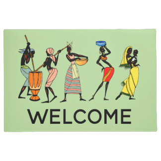 Paillasson Femmes africaines travaillantes