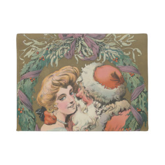 Paillasson Guirlande de baiser vintage avec du charme de Noël