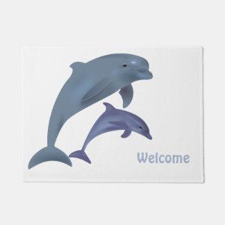 Paillasson Illustration sautante de dauphins