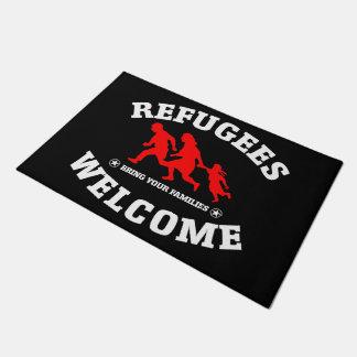 Paillasson L'accueil de réfugiés amènent vos familles
