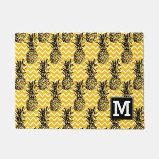 Paillasson L'ananas zigzague monogramme de |