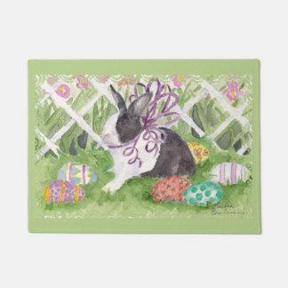 Paillasson Lapin et oeufs néerlandais de Pâques