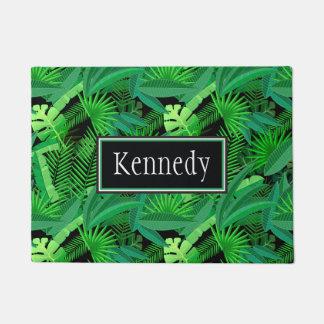 Paillasson Le feuille de palmiers tropicaux | ajoute votre