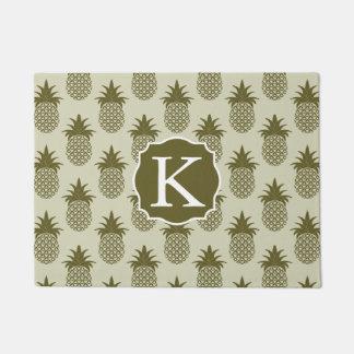 Paillasson Le motif kaki | d'ananas ajoutent votre initiale