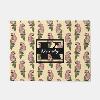 Paillasson Le style de Zentangle Parrots le monogramme de |