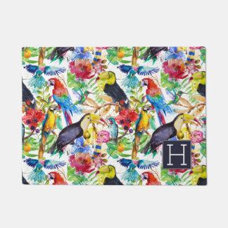 Paillasson Les perroquets colorés d'aquarelle | ajoutent