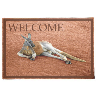 Paillasson Mâle rouge de repos de kangourou - accueil