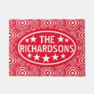 Paillasson Marchand ambulant rouge vintage personnalisé