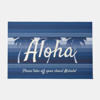 Paillasson Marine barrée par paumes hawaïennes de Hilo Aloha