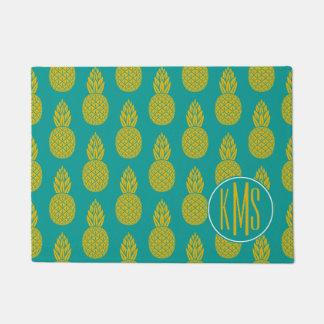 Paillasson Monogramme du fruit tropical | d'ananas
