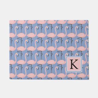 Paillasson Monogramme tendre du motif | de flamant