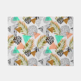 Paillasson Motif tropical géométrique abstrait de feuille
