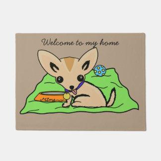 Paillasson Natte mignonne de chien de chiwawa