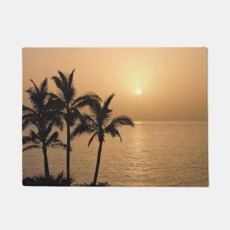 Paillasson Palmiers et coucher du soleil romantique