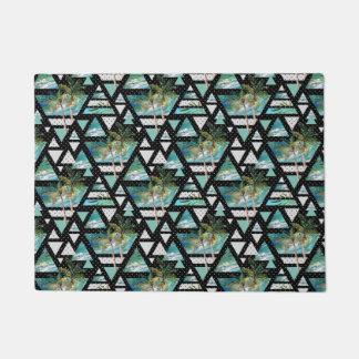 Paillasson Paumes géométriques abstraites et motif de vagues