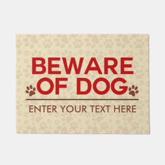 Paillasson Prenez garde du texte de coutume de chien