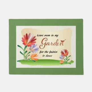Paillasson Quittez la pièce dans mon jardin pour les fées