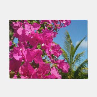 Paillasson Scène tropicale de nature de bouganvillée et de
