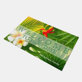 Paillasson Soleil tropical avec un petit colibri