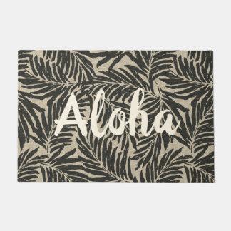 Paillasson Texture de toile de Faux hawaïen de paumes de