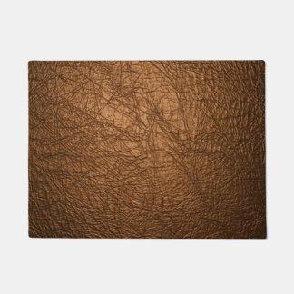 Paillasson textures en cuir brunes