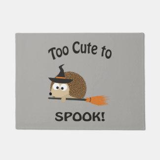 Paillasson Trop mignon pour Spook la sorcière de hérisson