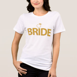 Paillettes Bachelorette d'or de chemises de jeune T-shirt