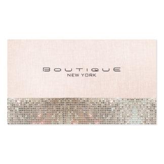 Paillettes de Faux et boutique chic rose mignonne Carte De Visite Standard