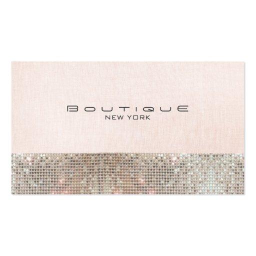 Paillettes de Faux et boutique chic rose mignonne  Cartes De Visite Personnelles