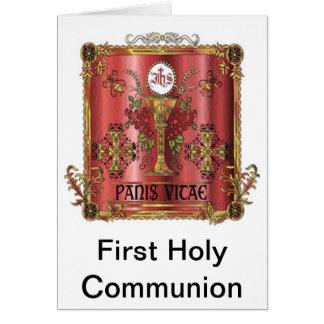 Pain de première carte de communion de la vie