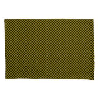 Paires Checkered vertes/noir de taie d'oreiller