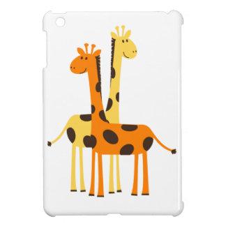 Paires drôles mignonnes de girafe coque pour iPad mini