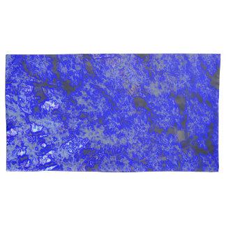 Paires grandes de marbre bleues de taie d'oreiller