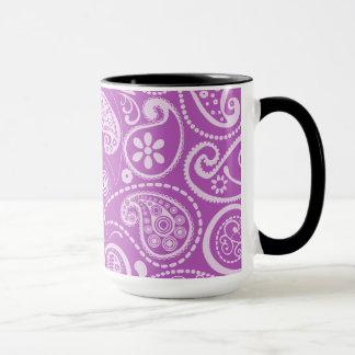 Paisley mauve profond ; Regard vintage de tableau Mug