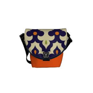 Paisley van het damast arabesque Marokkaans Messenger Bag